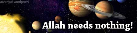 Allah needs nothing